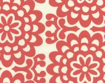 Sale-1 yard of  Cherry Wallflower fabric by Amy Butler