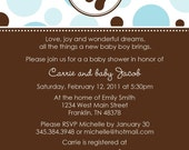 Baby Footprint A Custom Baby Shower Invite with Polka Dots