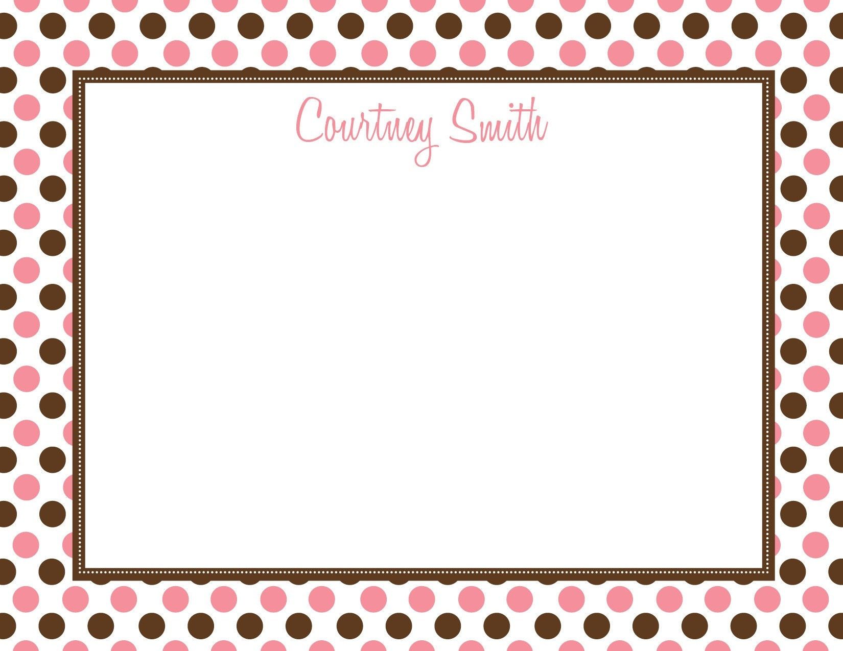 Pink Polka Dot Border Pink and chocolate polka dot border....custom by ...