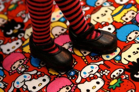 Blythe Black Flat Style Mary Jane shoes