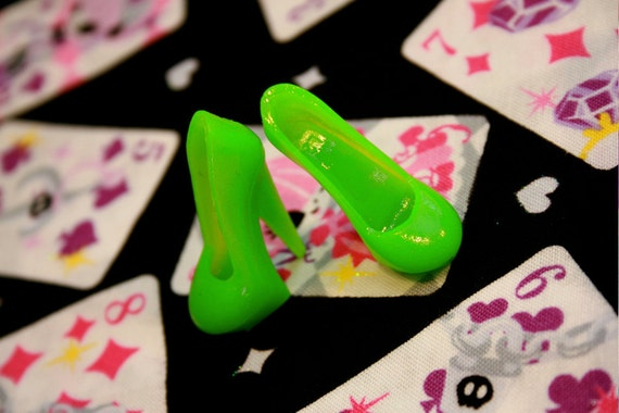 Monster High Semi translucent Green Stiletto heeled shoes