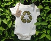 Recycle Applique on Organic Children's Onepiece