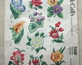 Vintage, 1950's McCall's Transfer Pattern, Ten Different Floral Motifs 2328