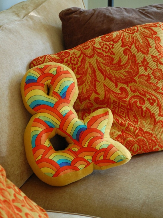 Items similar to ampersand pillow on etsy for Ampersand decoration etsy