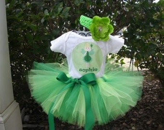 Personalized Tinkerbell Tutu Outfit -Tinkerbell Tutu Set - Tinkerbell Dress