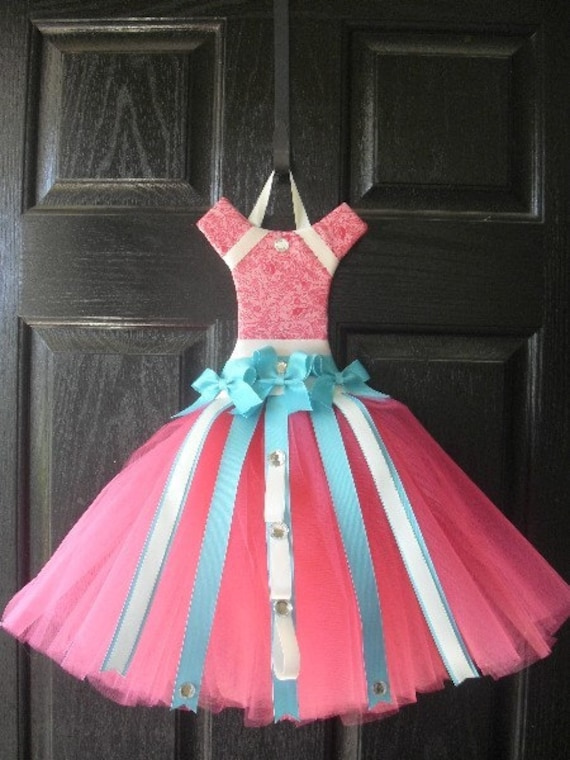 Raspberry Delight Tutu Hair Bow Holderperfect For Bedrooms