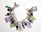 Born to Shop Charm Bracelet in Pastels