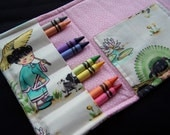 Coloring Wallet - China Dolls by Michael Miller, Crayons and Paper Included