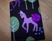 Coloring Wallet - Michael Miller Pet Deer, Crayons and Paper Included