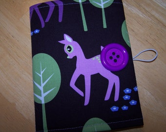 Coloring Wallet - Michael Miller Pet Deer, Crayons and Paper Included