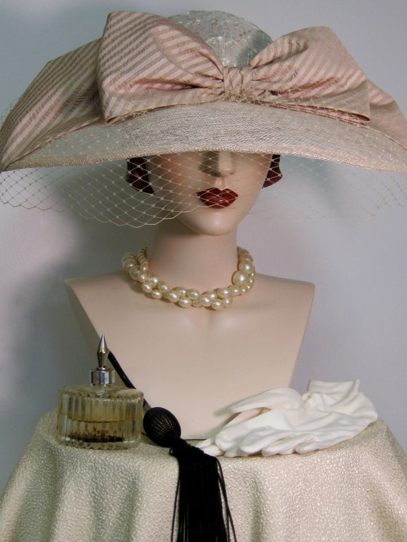 Edwardian Inspired Wide Brimmed Hat
