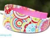 Colorful Fabric Headband 2 Inch Bright Preppy headband Girls Adult