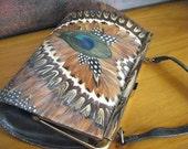 Vintage Peacock Feather Purse SALE