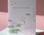 Lotus Flower Sympathy and Note Card