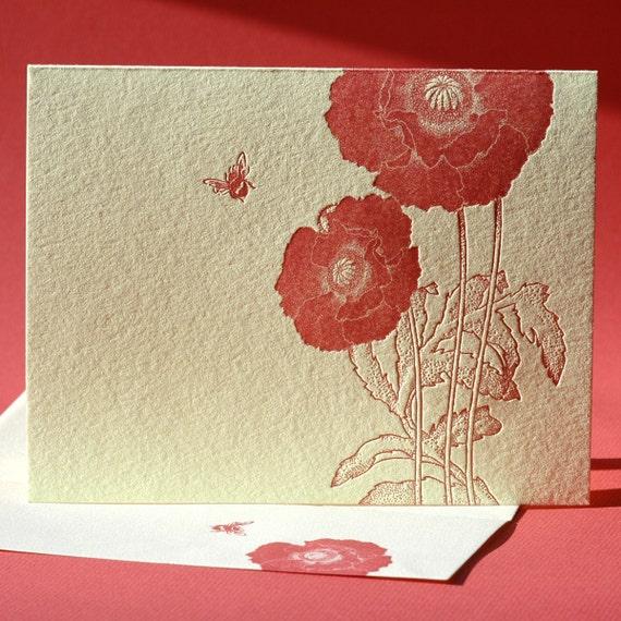 Poppy Note Card
