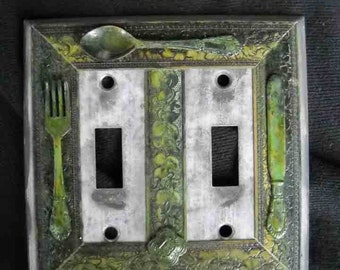 Silverware Double Lightswitch
