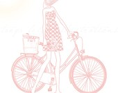 Invincible Summer by Tanya Leigh - 8x8 Fashion Illustration Print in Pink