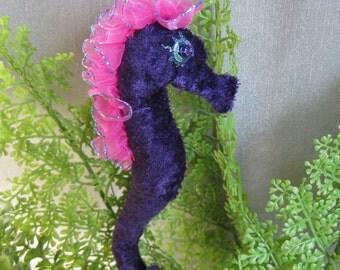 ooak seahorse cloth art doll, Kahewai