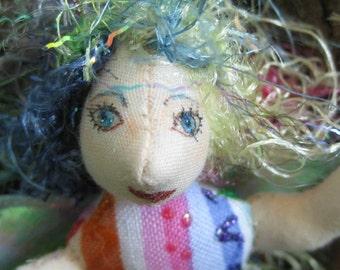 ooak, fantasy cloth art doll, Myrna the pixi
