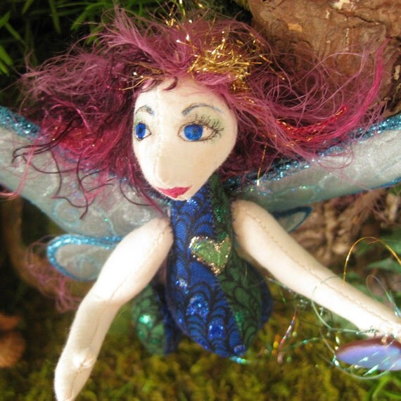 original cloth art doll, Ayano fairy mother