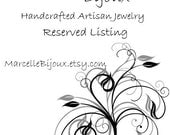 Custom Order - Reserved for Alison