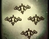 Lot of 2 - Decorative Cast Brass Keyhole Cover Escutcheon - Last in stock