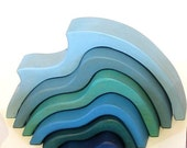 Wooden Stacking Nesting Wave Blocks