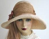 Straw Cloche Hat