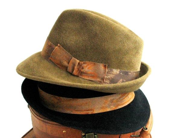 Fedora Trilby Hat Fall Fashion Men's Hat Women's Hat Winter Accessory Handmade Hat Dress Hat For Men Fall Accessory Custom Hat Gift For Men