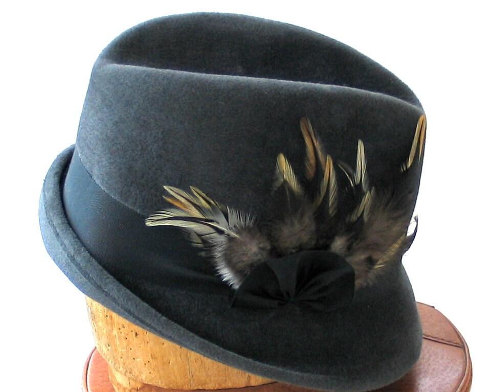 Gray Fedora Hat Womens Fedora Hat Women's Hat Fall by ...