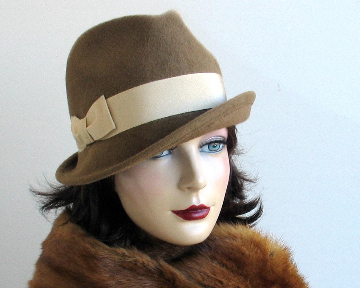 items similar to felt fedora hat fall fashion