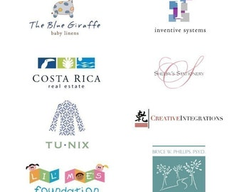 Logo Design with Business Card, Blog Header and Sticker, Professional Business Branding Package
