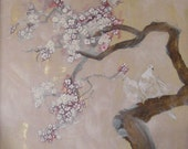 plum blossom with doves