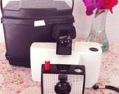 Vintage Polaroid Swinger Model 20 Land Camera and Case