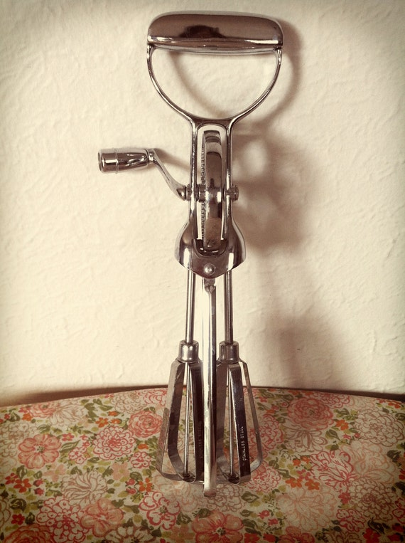 SALE 50% OFF Vintage Hand Mixer Full Chrome Price As Marked