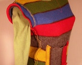 Striped Felted Sweater Vest in Crayon Colors