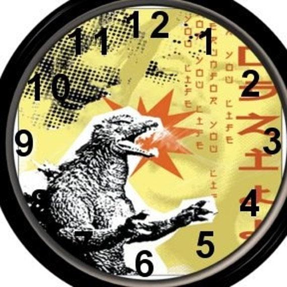 Godzilla Wall Clock Giant monster