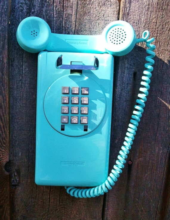 Northern Telecom Strongberg Carlson Turquoise Blue 3554 Touch