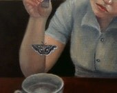 Teatime -- signed (8x10) Print of an Original Oil Painting