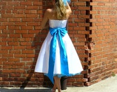Custom Made 1950s Strapless Dress With Large Bow Tie - 4070 - listing is for all sizes