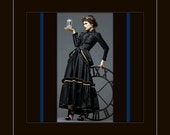 Custom 1800's Victorian Steampunk Ensemble - Bustle, Jacket and Skirt - listing is for all sizes