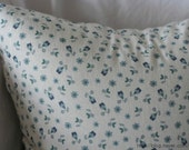 Country Style Cute Tiny Flower Pattern Linen Pillow Case(Cover, Slip) - Navy