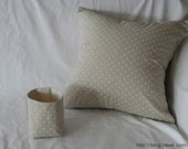 Natural Color Dotted Linen Pillow Case(Cover, Slip)