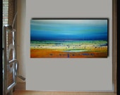 Sale 40% off when u buy any 2.48x24  modern abstract landscape painting by Elsisy.  Title: Juliet