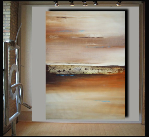 Buy 1 get 1 moving sale. 60x44 modern abstract painting on canvas by Elsisy Title: Torn