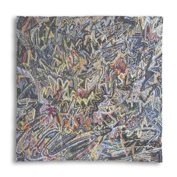 SALE/ Zigzag drive rag rug