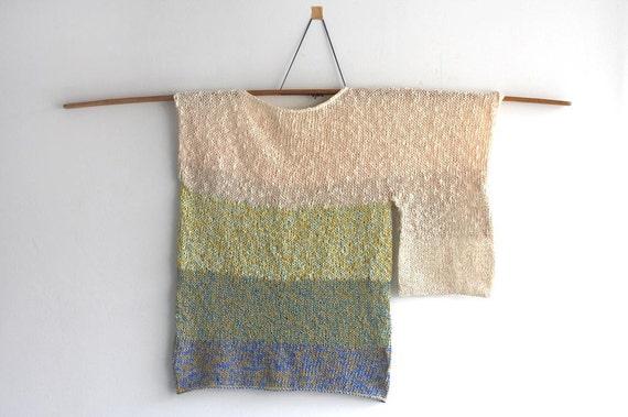 SALE/ asymmetry sweater / impressionist