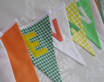 JUNGLE BRIGHTS Bunting Banner lovely for a Boy's Room, Party, Celebration or Photo prop can be Personalized Custom Made