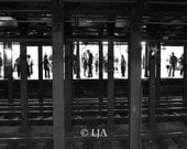 A Meeting NYC Subway sect  - 10x15  Fine art photograph