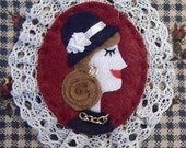 Felt Lady Brooch